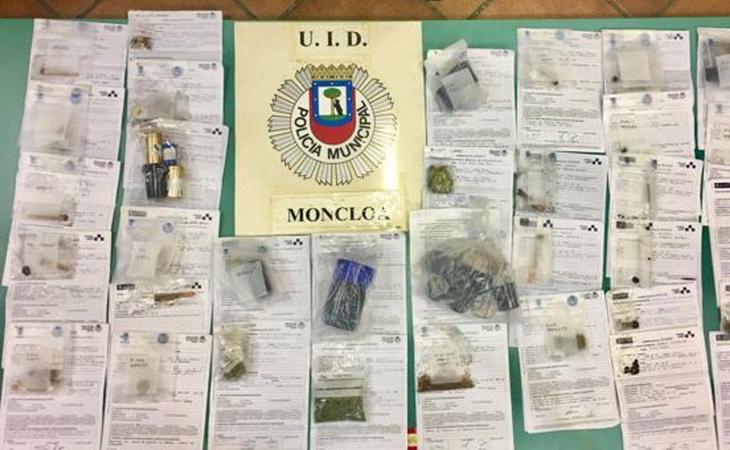 El cargamento que requisó la Policía Municipal madrileña