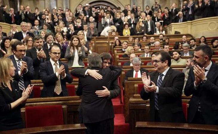 El Parlament de Catalunya tras la aprobación de la Ley del Referéndum