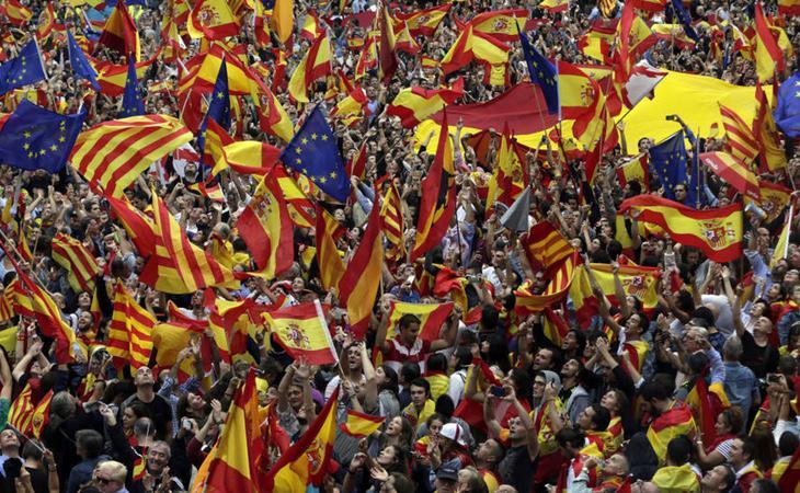 Miles de personas se manifestaron a favor de la unidad de España el pasado 8 de octubre