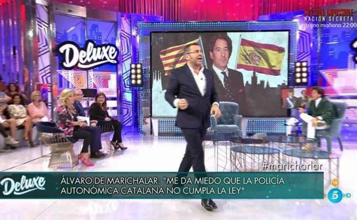 Instante en el que Jorge Javier Vázquez expulsa a Marichalar del plató