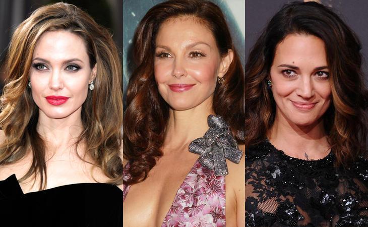 Angelina Jolie, Ashley Judd y Asia Argento
