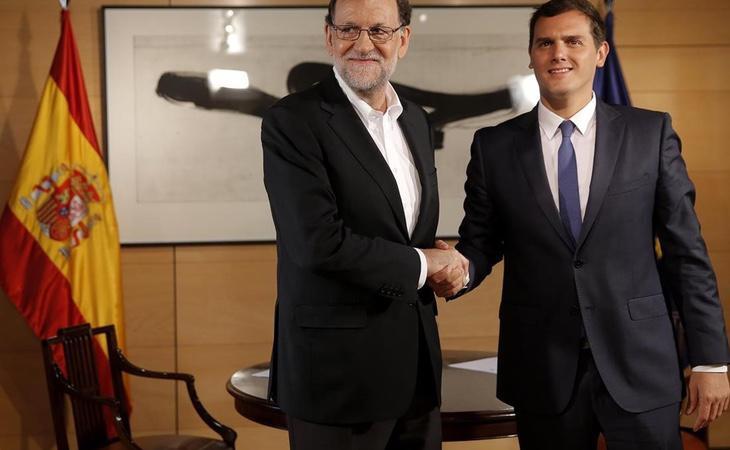 Mariano Rajoy reunido con el líder de Ciudadanos, Albert Rivera