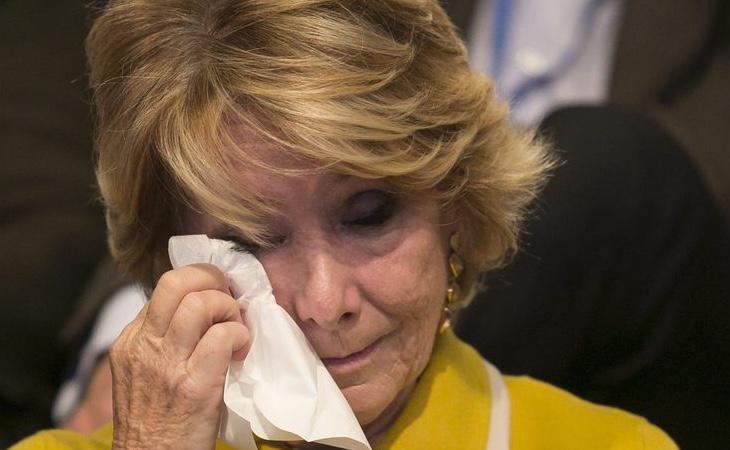 Esperanza Aguirre ganó las elecciones gracias a la presunta financiación ilegal del PP madrileño
