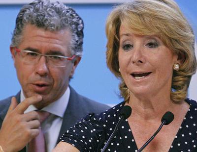 El PP de Esperanza Aguirre utilizó 1,5 millones en negro para financiar su campaña de 2011