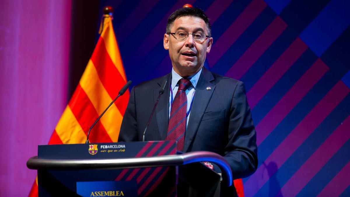 El presidente del F.C. Barcelona, Josep María Bartomeu, ha tachado de