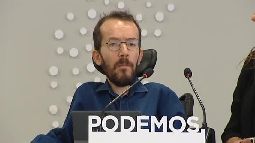 'Rajoy ha acabado con la democracia: rompe con el consenso del 78', dice Pablo Echenique desde Podemos