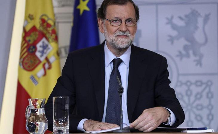 Mariano Rajoy durante una de sus comparecencias
