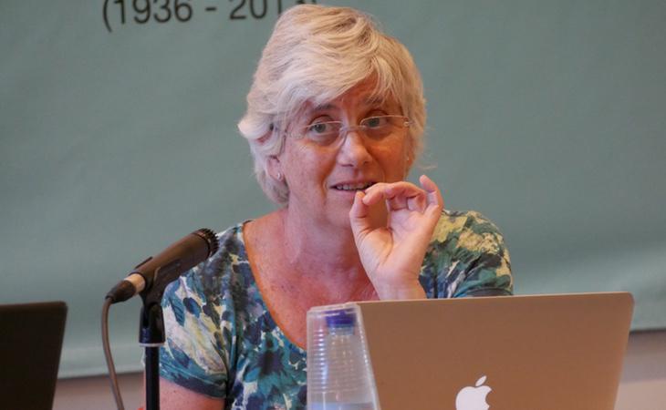 La consejera de Eduación, Clara Ponsantí, ha sido la que ha mostrado un apoyo más cerrado a la deriva del procés