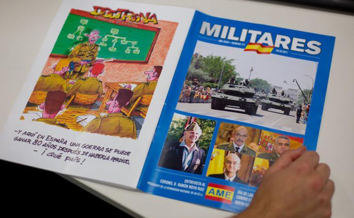 La AME edita y publica la revista pro franquista Militares