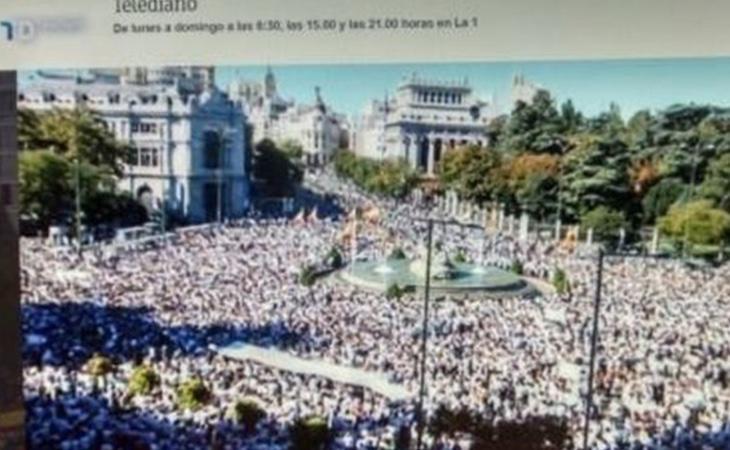 TVE ofreció avances informativos con motivo de las concentraciones partidarias de la unidad de España