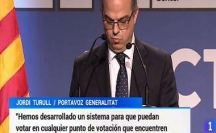 TVE falseó los rótulos de las declaraciones de Jordi Turull