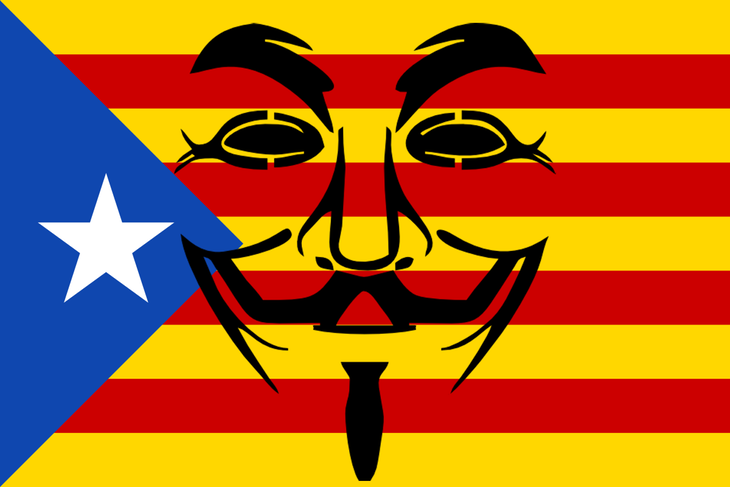 Anonymous no ha dudado en mostrar su apoyo a la causa independentista de Cataluña