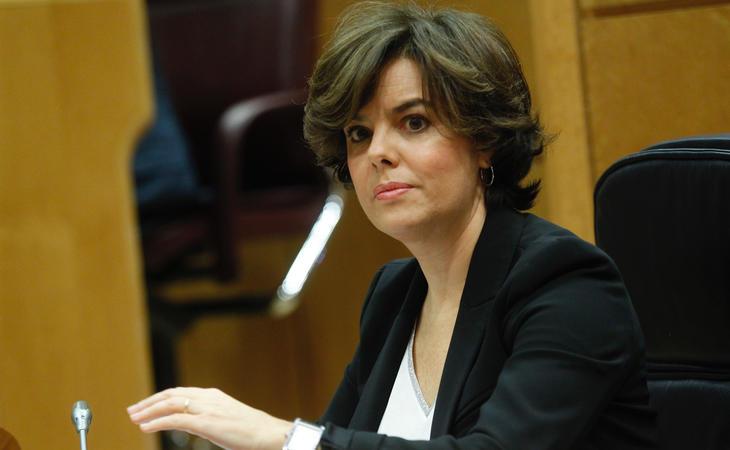 Soraya Sáenz de Santamaría ha intervenido en el Senado para responder a Puigdemont
