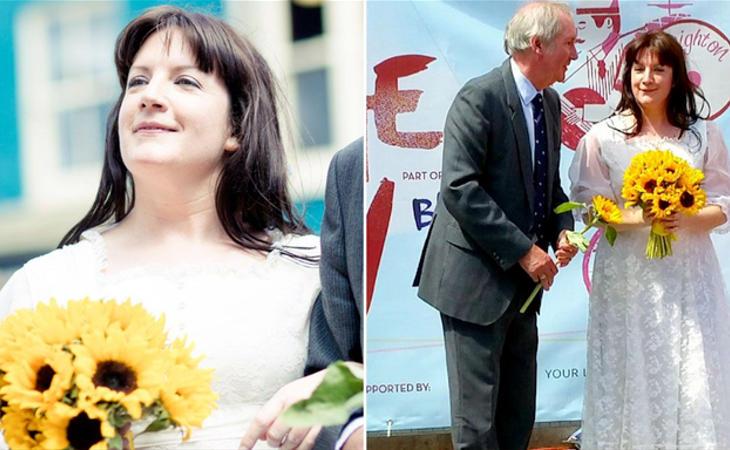 Sophie Tanner el día de su boda