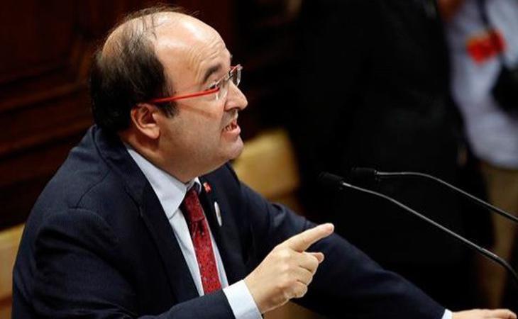 Miquel Iceta (PSC) pide elecciones autonómicas como solución al conflicto y una mesa de diálogo