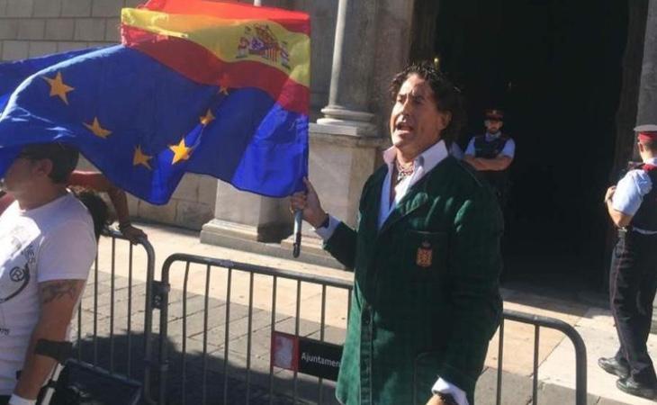 Álvaro de Marichalar durante la celebración del Orgullo Gay