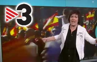 """""""Racistas"""",""""nazis"""",""""homófobos"""": Así vende TV3 la manifestación por la unidad de España"""