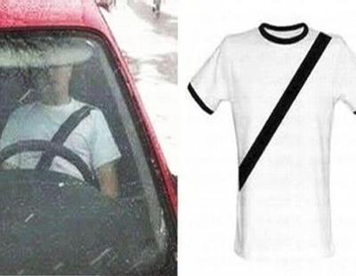 La Guardia Civil denuncia una camiseta 'antimultas' que simula el cinturón de seguridad
