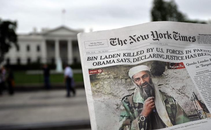 Portada de 'The New York Times' tras el asesinato de Bin Laden