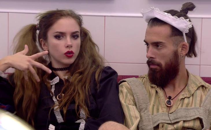 Carlota y José María en una de las pruebas del reality de Telecinco