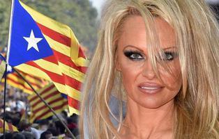 Pamela Anderson defiende el derecho a decidir de Cataluña y ataca al PP
