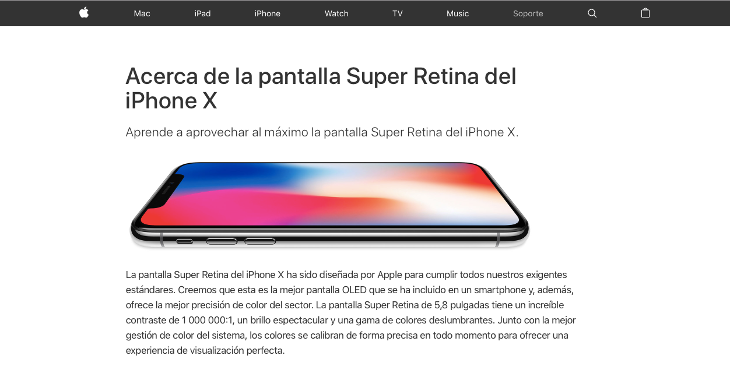 Apple ha avisado en su web