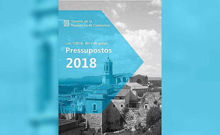 Portada de los hipotéticos primeros Presupuestos Generales de la República Catalana