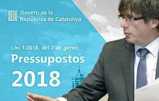 """La Generalitat ya tenía los Presupuestos Generales de 2018 para """"La República de Cataluña"""""""