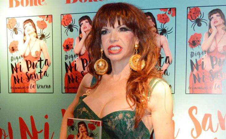 La Veneno en la presentación de su biografía, '¡Digo! Ni puta ni santa', poco antes de su muerte