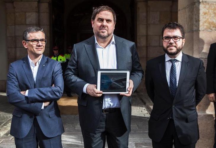 Josep María Jové (izq) criticó a la CUP y la manera en la que su propio Gobierno gestionaba