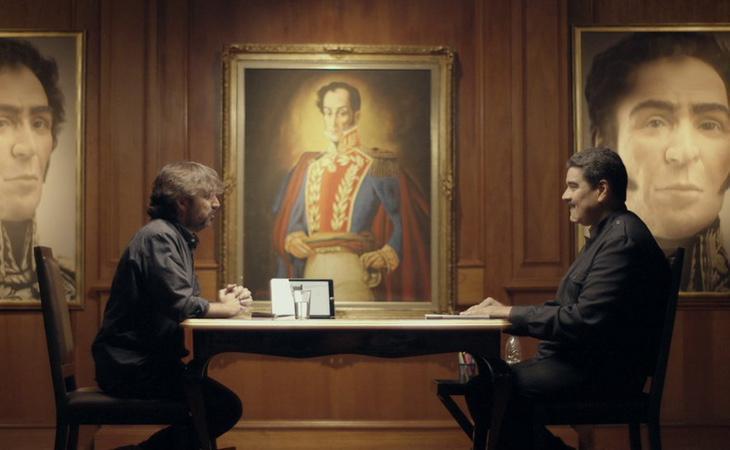 Uno de los momentos de la tensa entrevista de Maduro en 'Salvados'