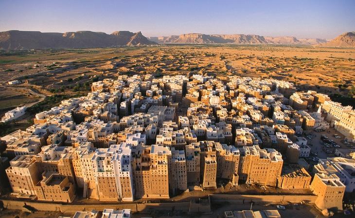 La ciudad se encuentra en pleno desierto