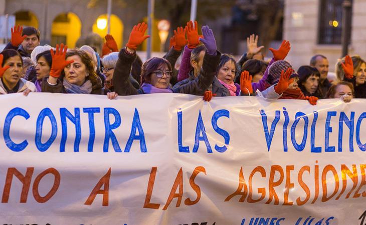 Manifestación contra las agresiones sexistas