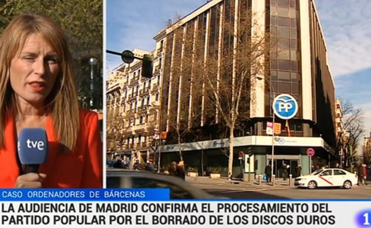 TVE dio la noticia del procesamiento del PP en el minuto 12