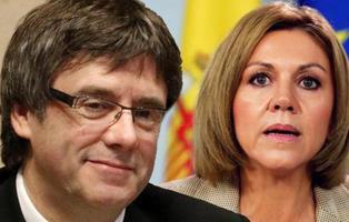 Dos humoristas engañan a Cospedal: creyó que Puigdemont era el espía de Putin 'Cipollino'
