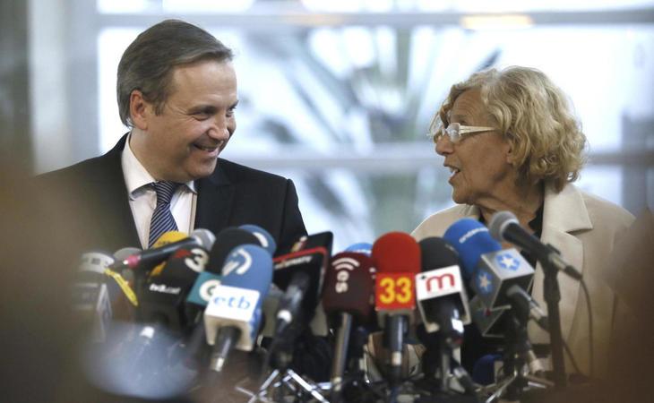 El socialista Carmona ha asegurado que trabajar con Carmena es muy fácil debido a su disposición para lograr consensos