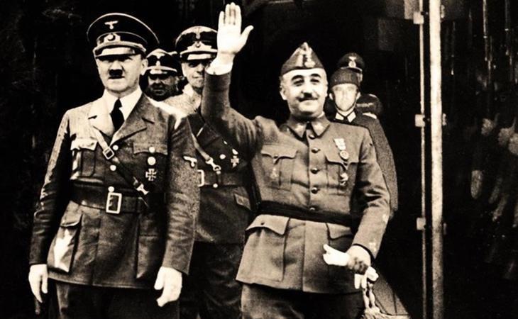 Francisco Franco junto al líder nazi Adolf Hitler