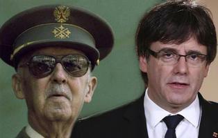 Puigdemont denuncia que homenajee a Franco en un monumento pagado con dinero público