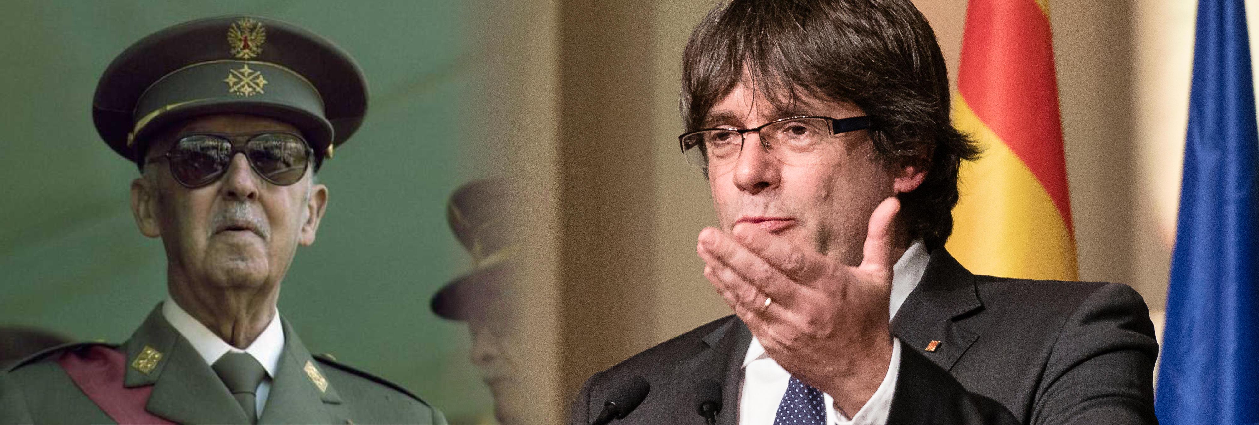 Puigdemont denuncia que se siga homenajeando a Franco en un monumento pagado con dinero público