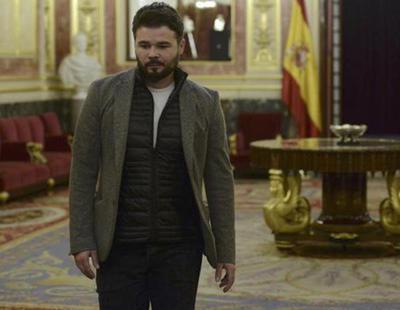 Rufián podría ser expulsado del Congreso si continúa con sus shows