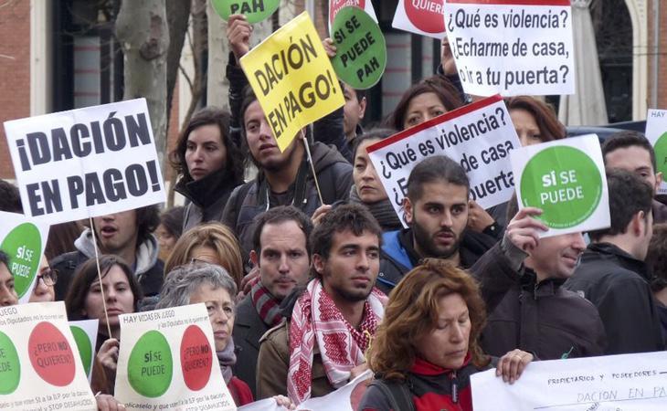 El PP se muestra en contra de la dación en pago que pide la PAH y la mayoría de los españoles