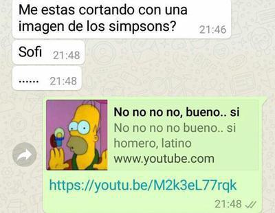 Deja a su novio con memes de 'Los Simpsons' y las redes sociales enloquecen