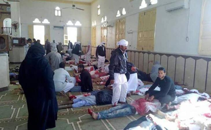 Los terroristas han perpetrado un atentado contra una mezquita llena de fieles