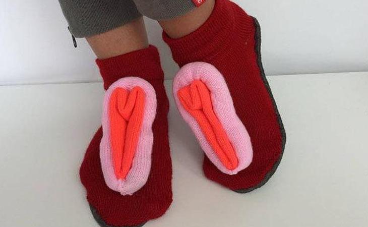 Zapatillas vagina para tus pies