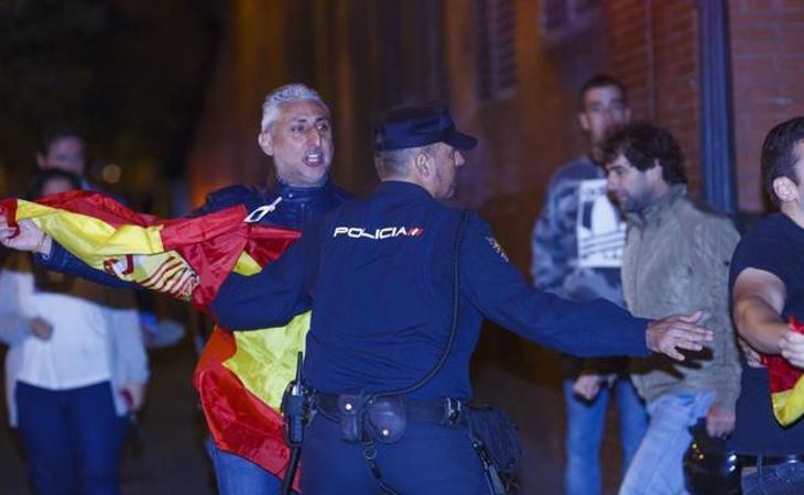 Julián Leal Luna durante su participación en la concentración neonazi