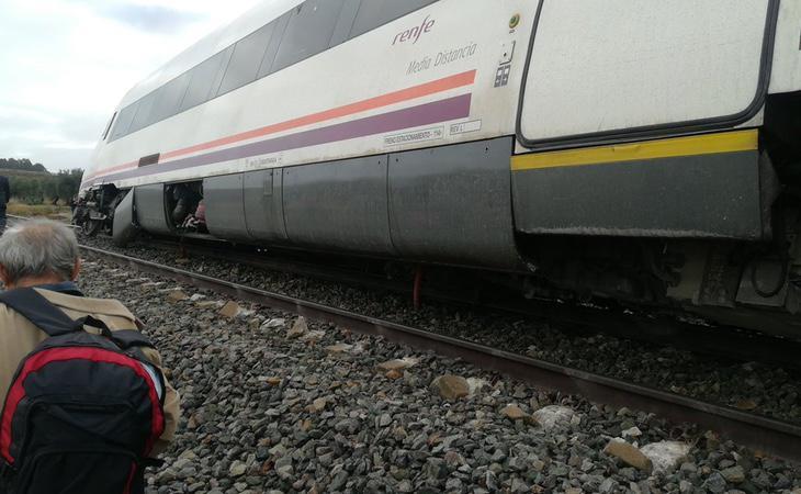 Imagen del accidente de la usuaria de Twitter marinma_aranda