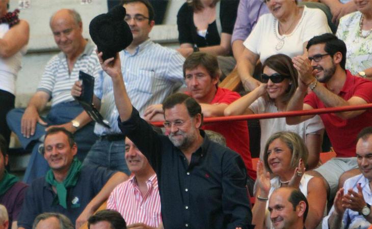 Mariano Rajoy en una corrida de toros