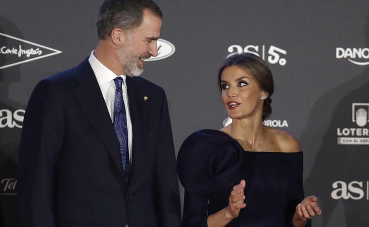 Felipe y Letizia durante la gala de As