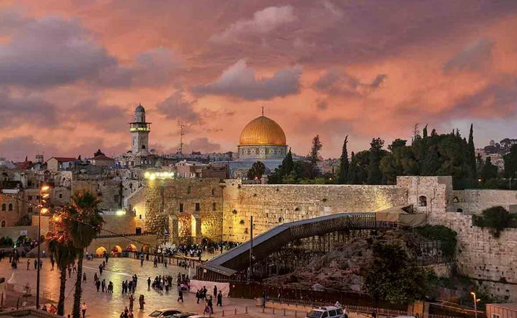 La ciudad vieja de Jerusalén ha estado divida tradicionalmente entre Palestina e Israel