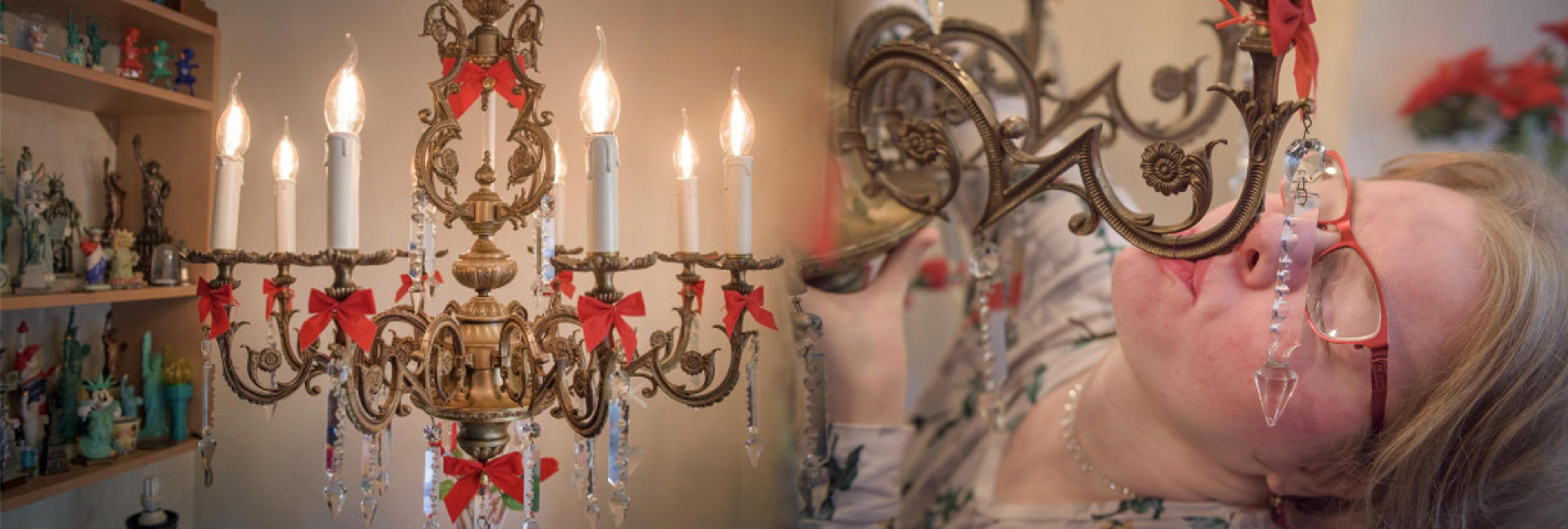 """Una mujer británica de 33 años se va a casar con un candelabro: """"Me encanta darle besos"""""""